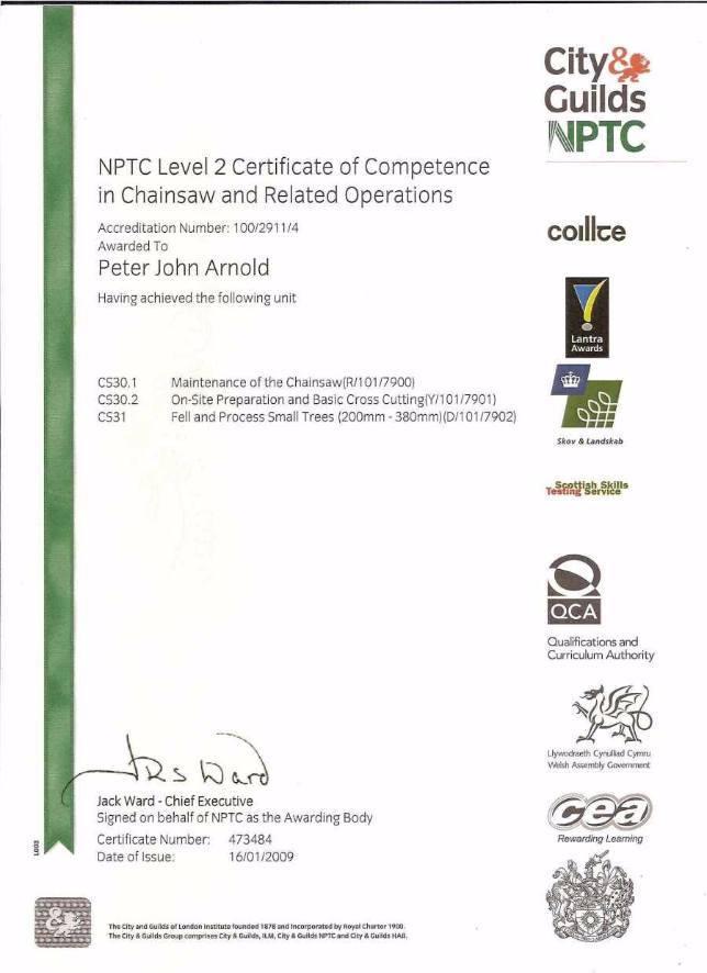 NPTC L2 Cert Chainsaw