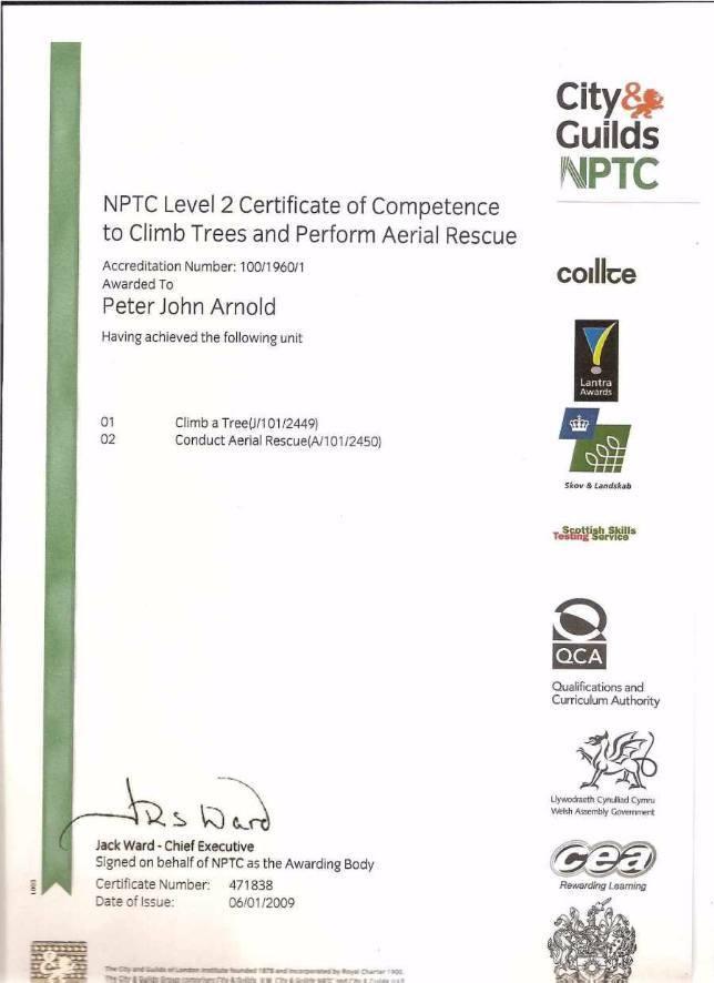 NPTC L2 Cert Comp Climb Ariel Rescue